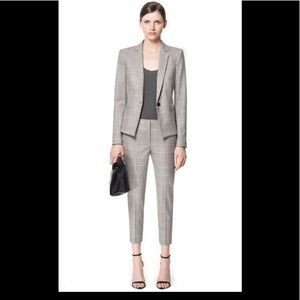Zara Nwot Gingham/ Pinstripe Gray Tailored Pants